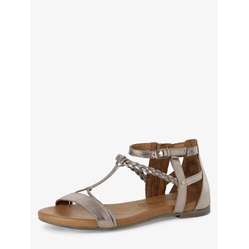 Tamaris - Sandały damskie ze skóry, złoty