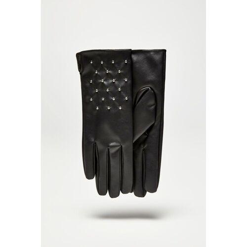 MOODO Rękawiczki z eko skóry z dżetami