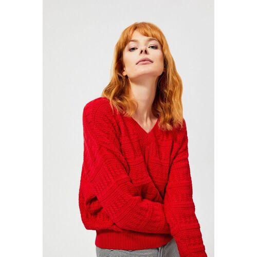 MOODO Sweter typu oversize o wyraźnym splocie