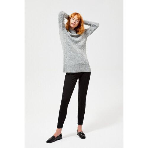 MOODO Sweter o wyraźnym splocie z domieszką wełny