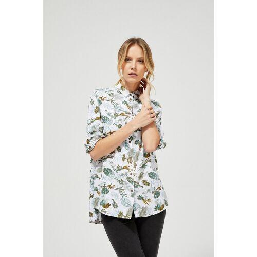 MOODO Koszula z motywem roślinnym
