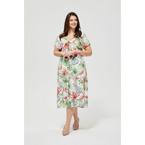 MOODO Sukienka z motywem roślinnym