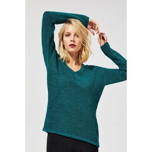 MOODO Sweter o wyraźnym splocie z metaliczną nitką