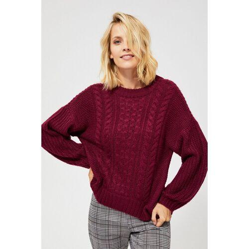 MOODO Sweter o wyraźnym splocie