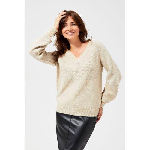 MOODO Sweter z ozdobnym splotem