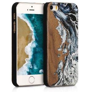 kwmobile Drewniane etui dla Apple iPhone SE - brązowy