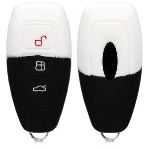 kwmobile Silikon etui dla kluczyk samochodowy dla Ford Ford - biały