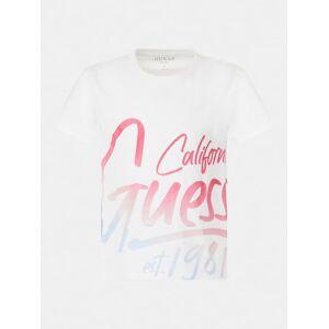 Guess Kids Krótki T-Shirt Z Logo - Biały - Gender: Female