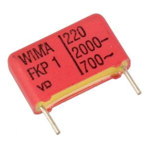 WIMA 220pF   2000V Kondensator impulsowy FKP1 WIMA 11mm