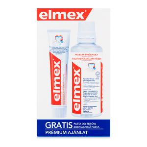 elmex Przeciw Próchnicy Płyn do płukania jamy ustnej 400 ml i pasta do zębów 75 ml