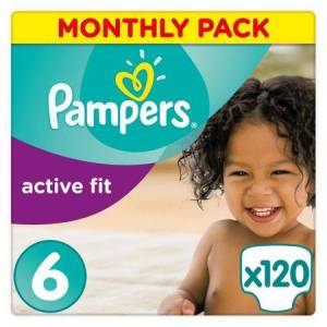Pampers Pieluchy jednorazowe Pampers Active Fit 6 Extra Large 120 szt. 15+ kg