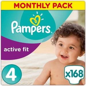 Pampers Pieluchy jednorazowe Pampers Active Fit 4 Maxi 168 szt. 8 - 16 kg