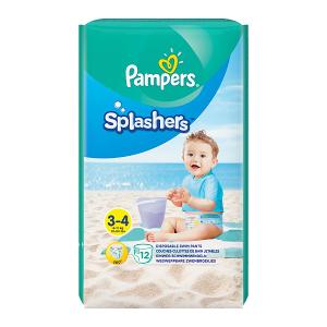 Pampers Splashers, R3-4 12 jednorazowych pieluch do pływania
