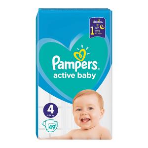 Pampers Active Baby Rozmiar 4, 49 pieluszek, 9-14 kg
