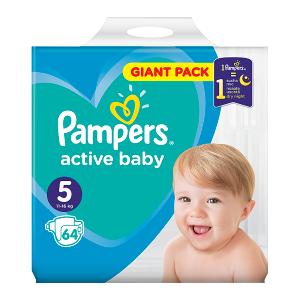Pampers Active Baby Rozmiar 5, 64 pieluszki, 11-16 kg