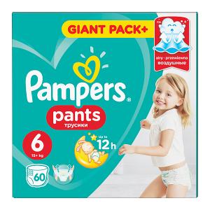 Pampers Pants, Rozmiar 6, 60 Pieluchomajtek