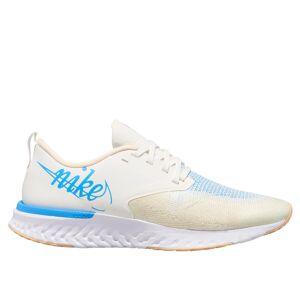 Nike Buty Nike Odyssey React Flyknit 2 JDI W Błękitno-Białe  - Kobieta - Biały - Rozmiar: 6.5