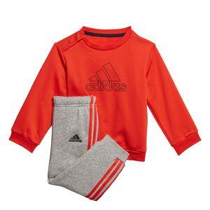 adidas Must Have Jogging Set Fleece Dziecięce Czerwono-Szary (GD9996)  - Czerwony - Size: 92