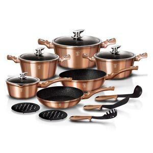 Zestaw 15 naczyń do gotowania Metallic Rose Gold