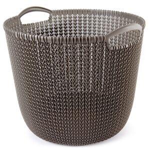 Curver 03673-X59 kosz okrągły Knit 30 l, brązowy