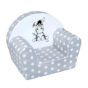 4-Home New Baby Fotelik dziecięcy Zebra szary, 42 x 53 cm