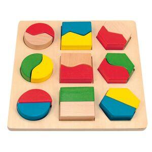 Woody Deska układanka z geometrycznymi kształtami