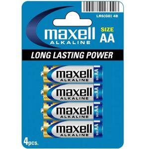 Maxell Baterie MAXELL alkaiczne AA LR6 4szt.