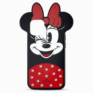 Swarovski Etui na smartfona Minnie, iPhone® 12 mini, różnokolorowa  - Dark Multi