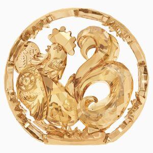 Swarovski Chinese Zodiac - Rooster , Gold Tone
