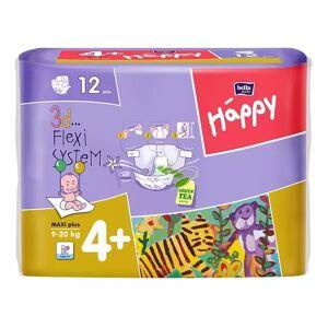 Bella Maxi Plus 4+ Happy Pieluszki Dla Dzieci 12 Sztuk 9 - 20 Kg