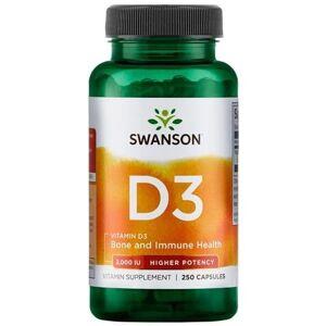 Swanson Health Products Swanson Witamina D3 2000 iu Cholekalcyferol 250 kapsułek