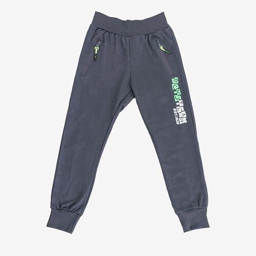 Ciemnoszare chłopięce spodnie dresowe - Spodnie