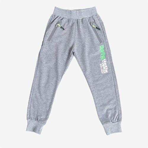Szare chłopięce spodnie dresowe - Spodnie