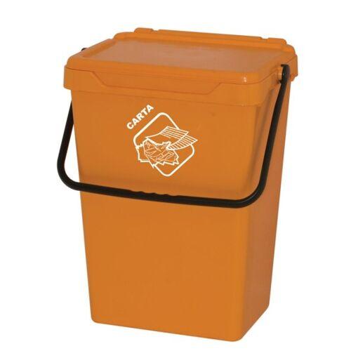 Artplast Plastikowy kosz na śmieci, żołty, 35 l
