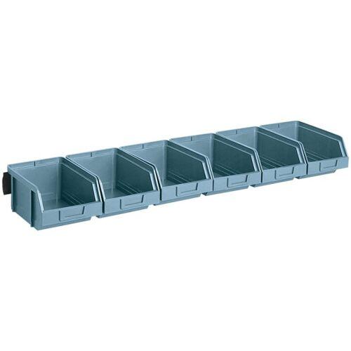 Artplast Stalowe listwy z pojemnikami, 6x pojemnik 103x166x73 mm