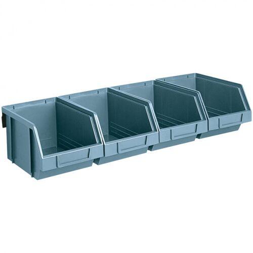 Artplast Stalowe listwy z pojemnikami, 4x pojemnik 146x237x124 mm