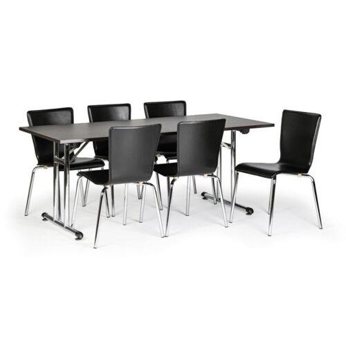 B2B Partner Stół składany fold 1800 x 800 mm, wenge + 6x krzesło caprio