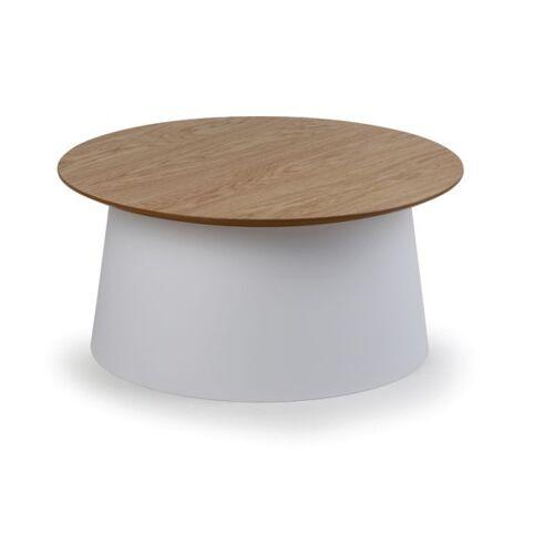 B2B Partner Plastikowy stolik kawowy seta z drewnianym blatem, średnica 690 mm,