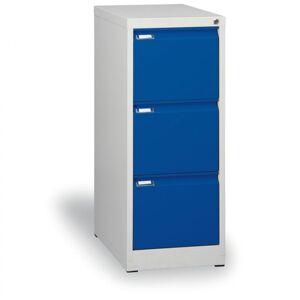 Kovona Metalowa szafa kartotekowa a4, 3 szuflady, niebieske