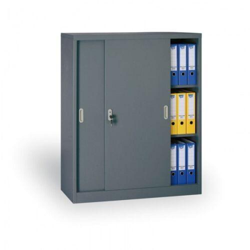 B2B Partner Metalowa szafa z przesuwnymi drzwiami, 1200 x 1200 x 450 mm,