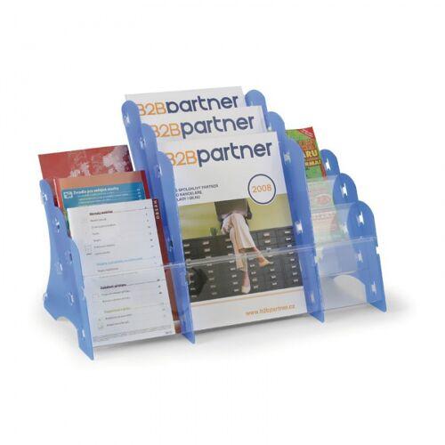 B2B Partner Plastikowy stojak na ulotki, stołowy, 3xa4/3xa5/3xdl, biały