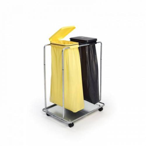 B2B Partner Mobilny stojak na 2 worki na śmieci 70/120 l