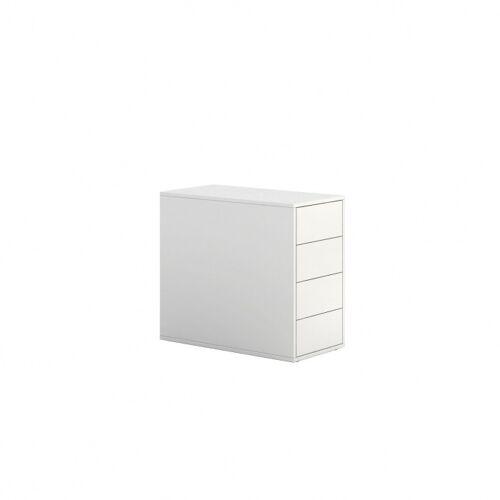 PLAN Kontener biurowy block white, 4 szuflady