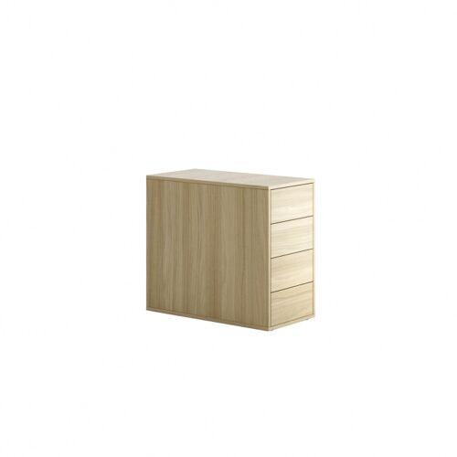 PLAN Kontener biurowy block wood, 4 szuflady