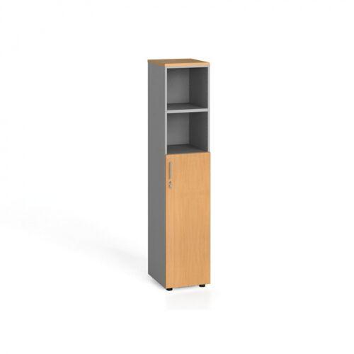 B2B Partner Szafa biurowa, drzwi na 3 półki, 1781 x 400 x 420 mm, buk