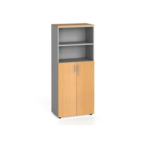 B2B Partner Szafa biurowa, drzwi na 3 półki, 1781 x 800 x 420 mm, buk