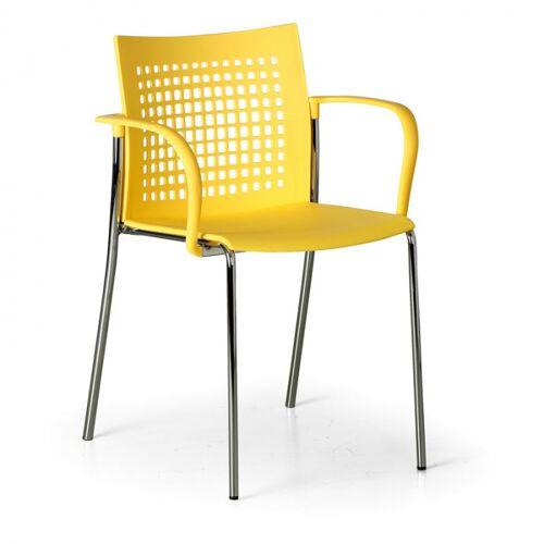 B2B Partner Krzesło kuchenne coffee break, żółte