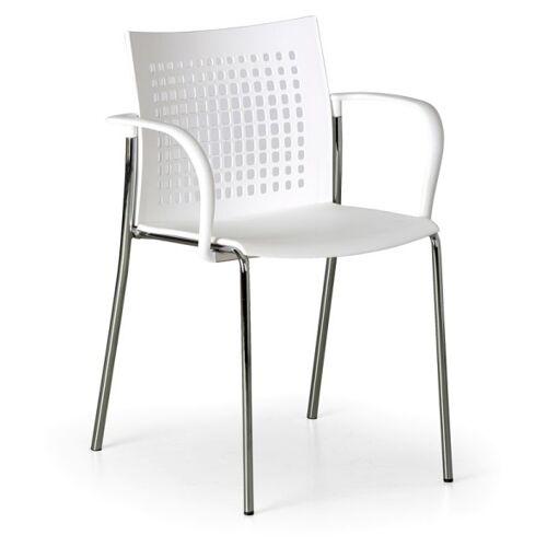 B2B Partner Krzesło kuchenne coffee break, białe