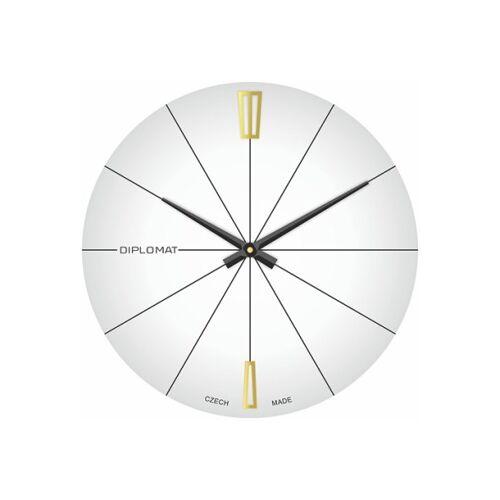 B2B Partner Szklany zegar ścienny, biały