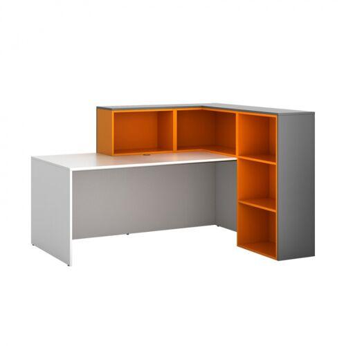 PLAN Zestaw l01, prawy, grafitowo/pomarańczowo/biały